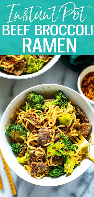Instant Pot Beef and Broccoli Ramen