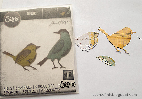 Layers of ink - Distress Ink Blocks Card Tutorial by Anna-Karin Evaldsson. Die cut Feathered Friends from Journal Cards.