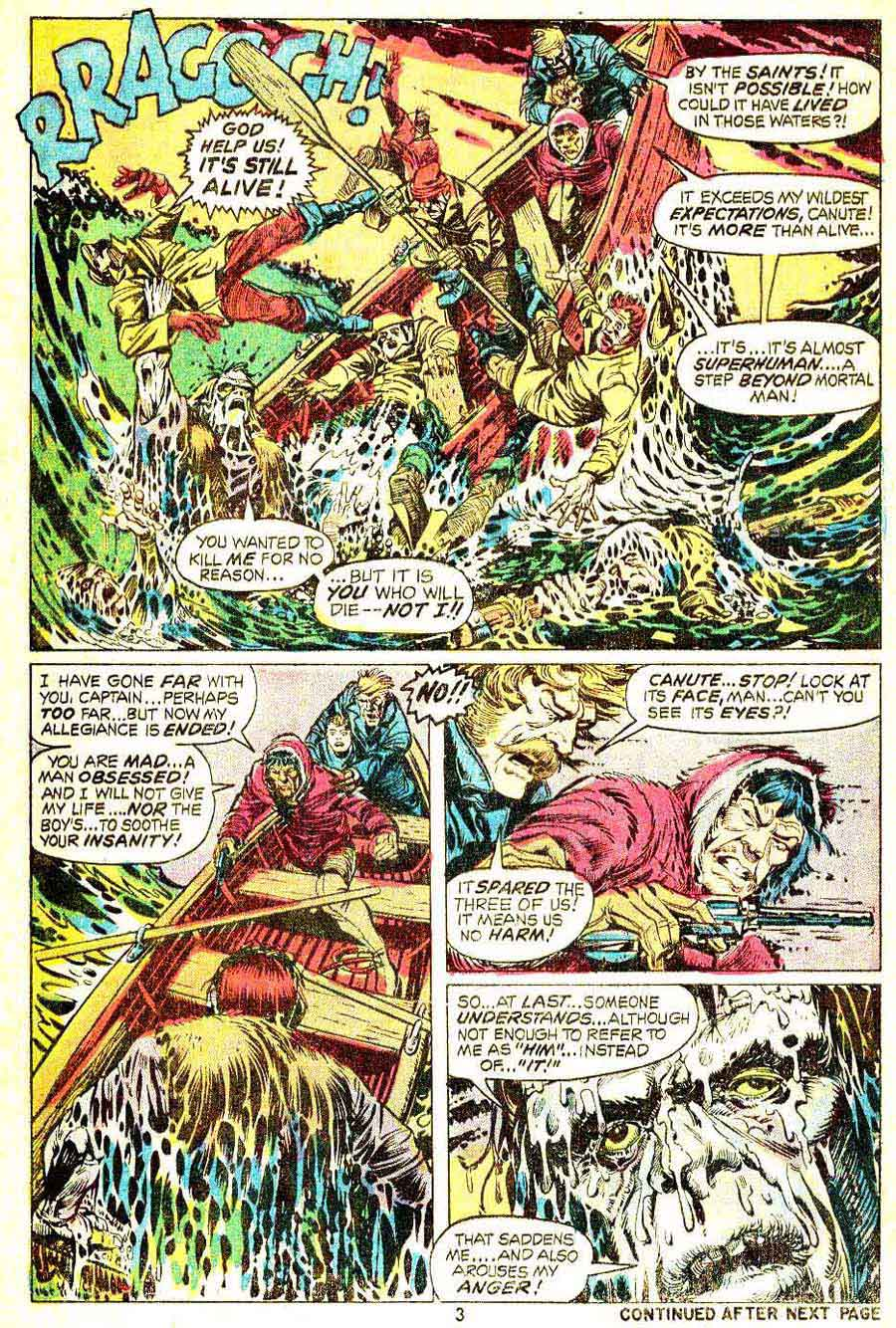 Frankenstein v2 #3 marvel comic book page art by Mike Ploog
