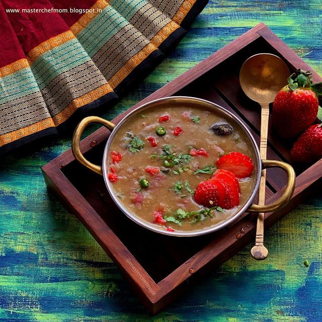 Strawberry Pappu Recipe