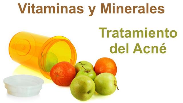 Las vitaminas y minerales que debemos tomar para el tratamiento del acné