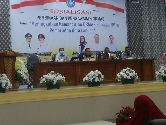 Terpilihnya Saifullah, SE Menjadi Ketua Forum Organisasi Di Acara Sosialisasi Pembinaan Dan Pengawasan Ormas