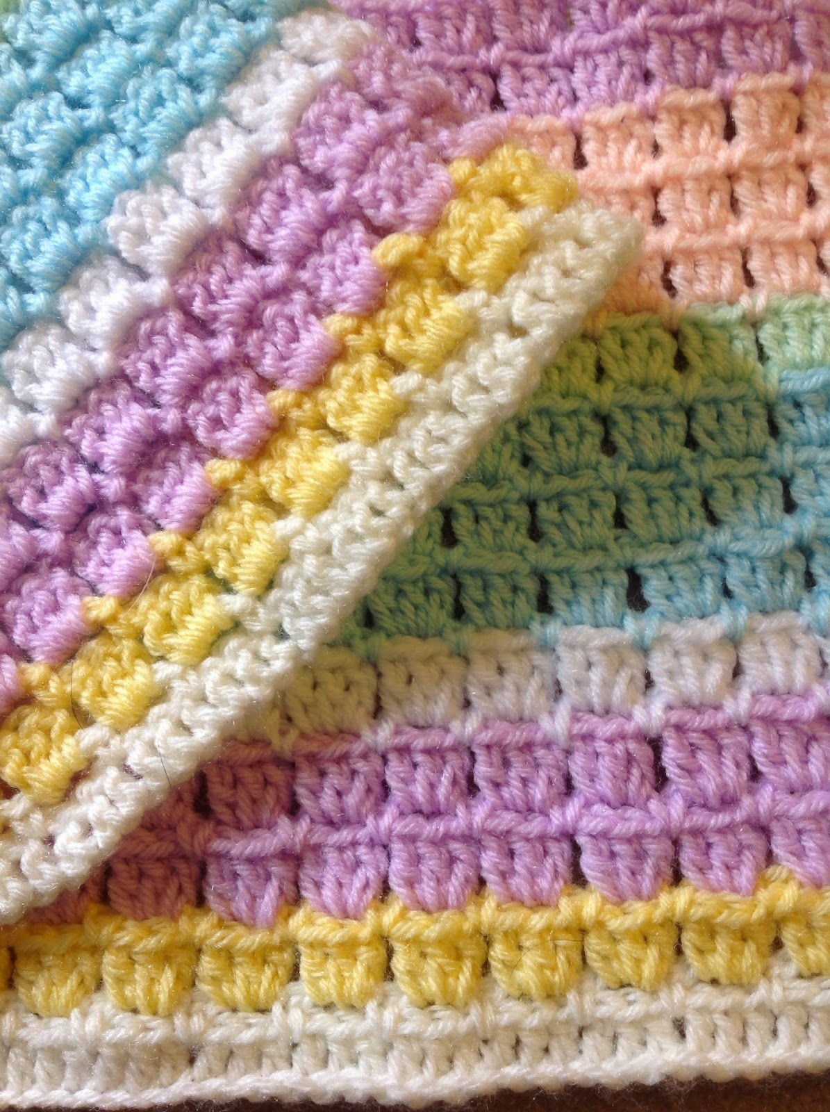 Oyas World Crochet Knitting Crochet Block Stitch Baby Blanket