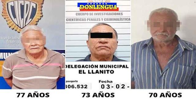 Tres ancianos seguidores del Régimen detenidos por abusar a varias niñas pequeñas