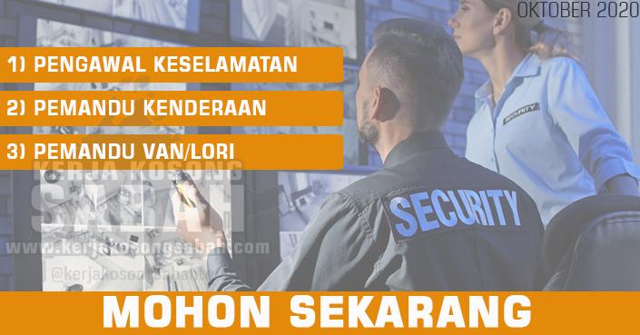 Kerja Kosong Sabah Oktober 2020 | Pengawal Keselamatan, Pemandu Kenderaan, Pemandu Van/Lori