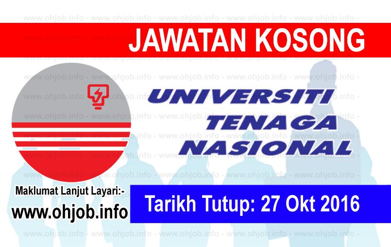 Jawatan Kerja Kosong Universiti Tenaga Nasional (UNITEN) logo www.ohjob.info oktober 2016