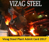 Vizag Steel Junior Trainee Admit Card