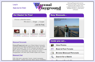 Bisexual playground sign in