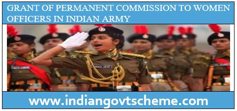 WOMEN OFFICERS IN INDIAN ARMY