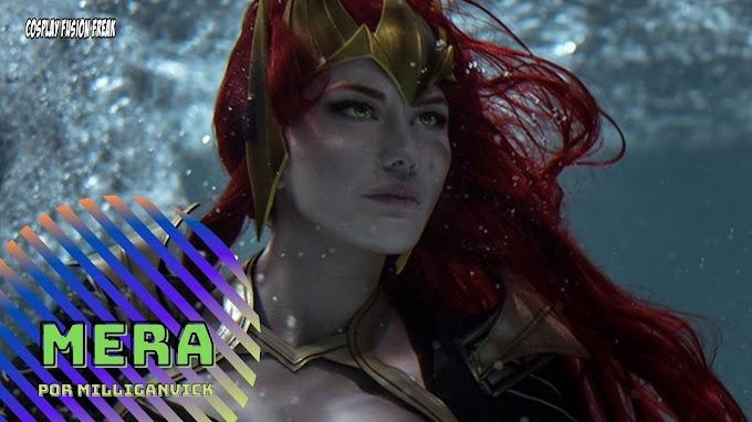 MilliganVick con su cosplay de Mera