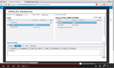 SAP HANA Cloud Integration for Data Services