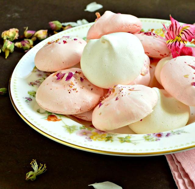 Rosewater Meringue Cookies