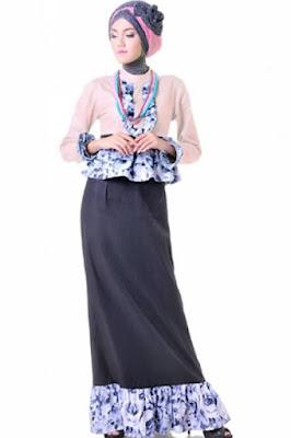 model baju batik muslim remaja elegan