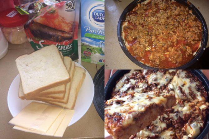 Resepi Pizza 5 Bahan Tanpa Oven, Guna Roti Keping Je!