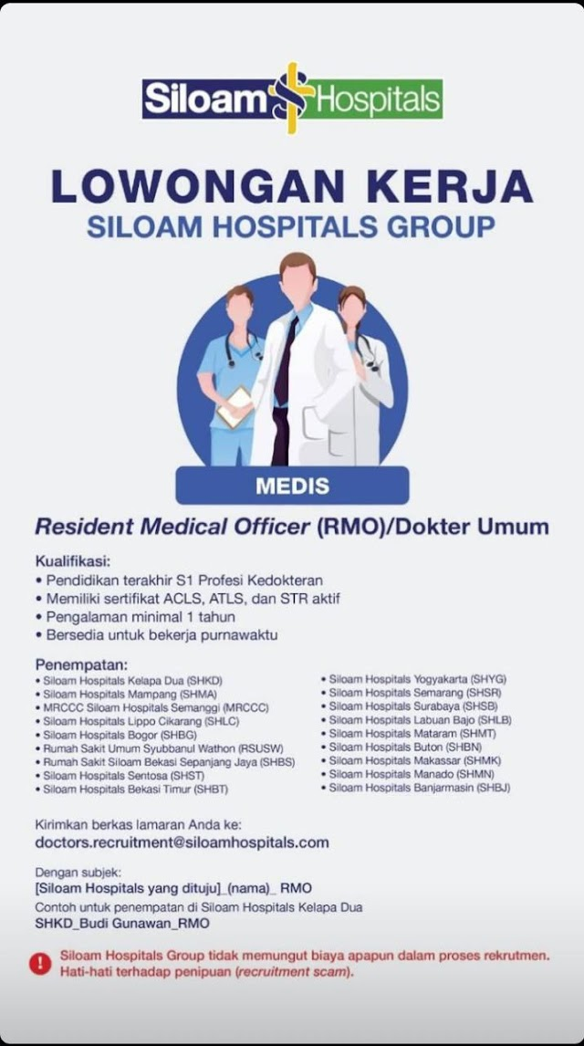 Loker Dokter Siloam Hospitals Group