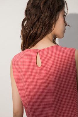 屋頂上的長餐桌背心洋裝-莓果(桃格)模特兒實穿