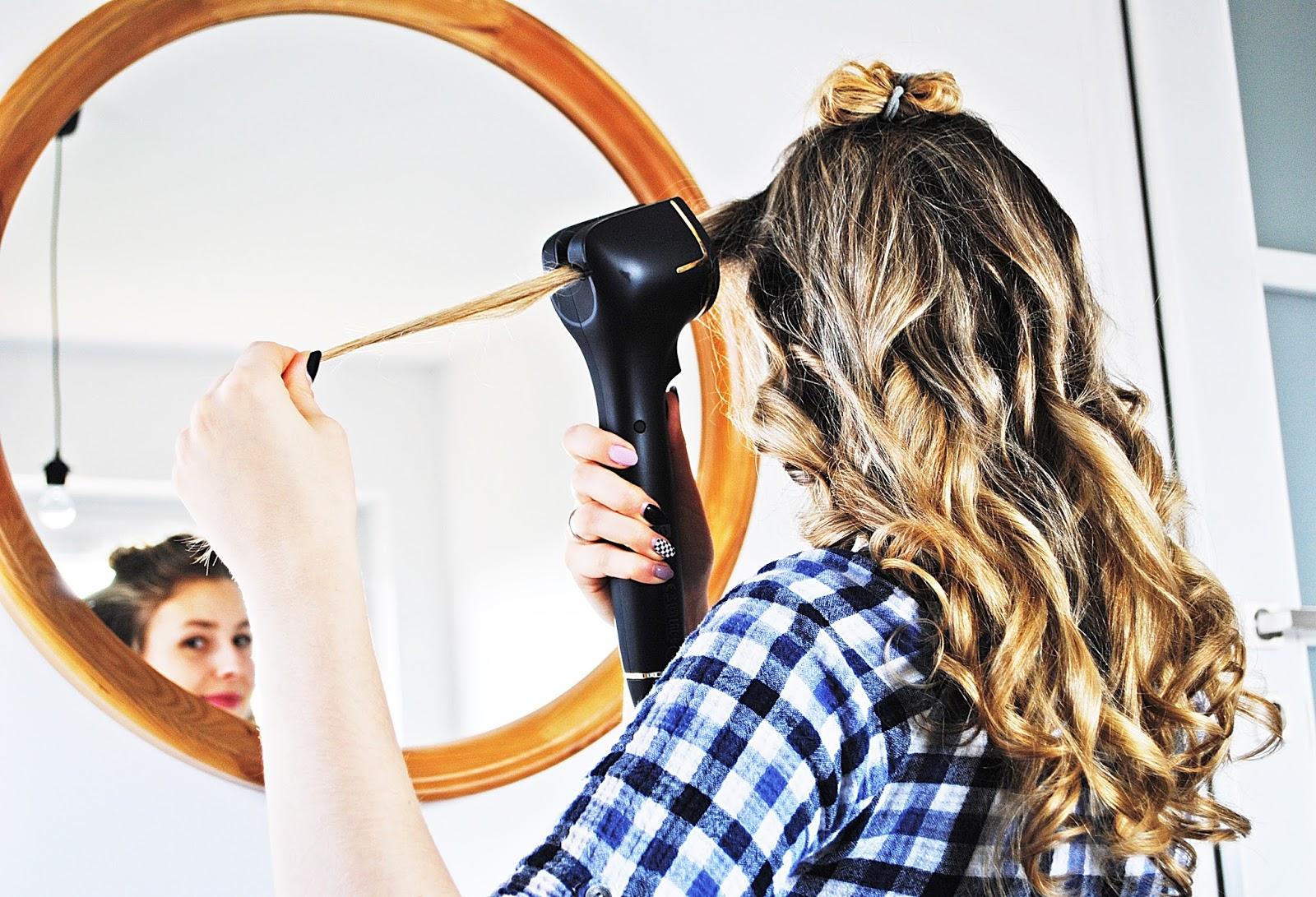 Automatyczna lokówka Philips ProCare Auto Curler efekt na włosach