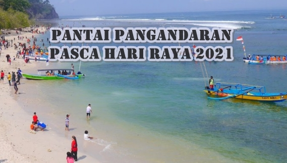 Pantai Pangandaran Tetap Ramai Meski Sudah Ditutup