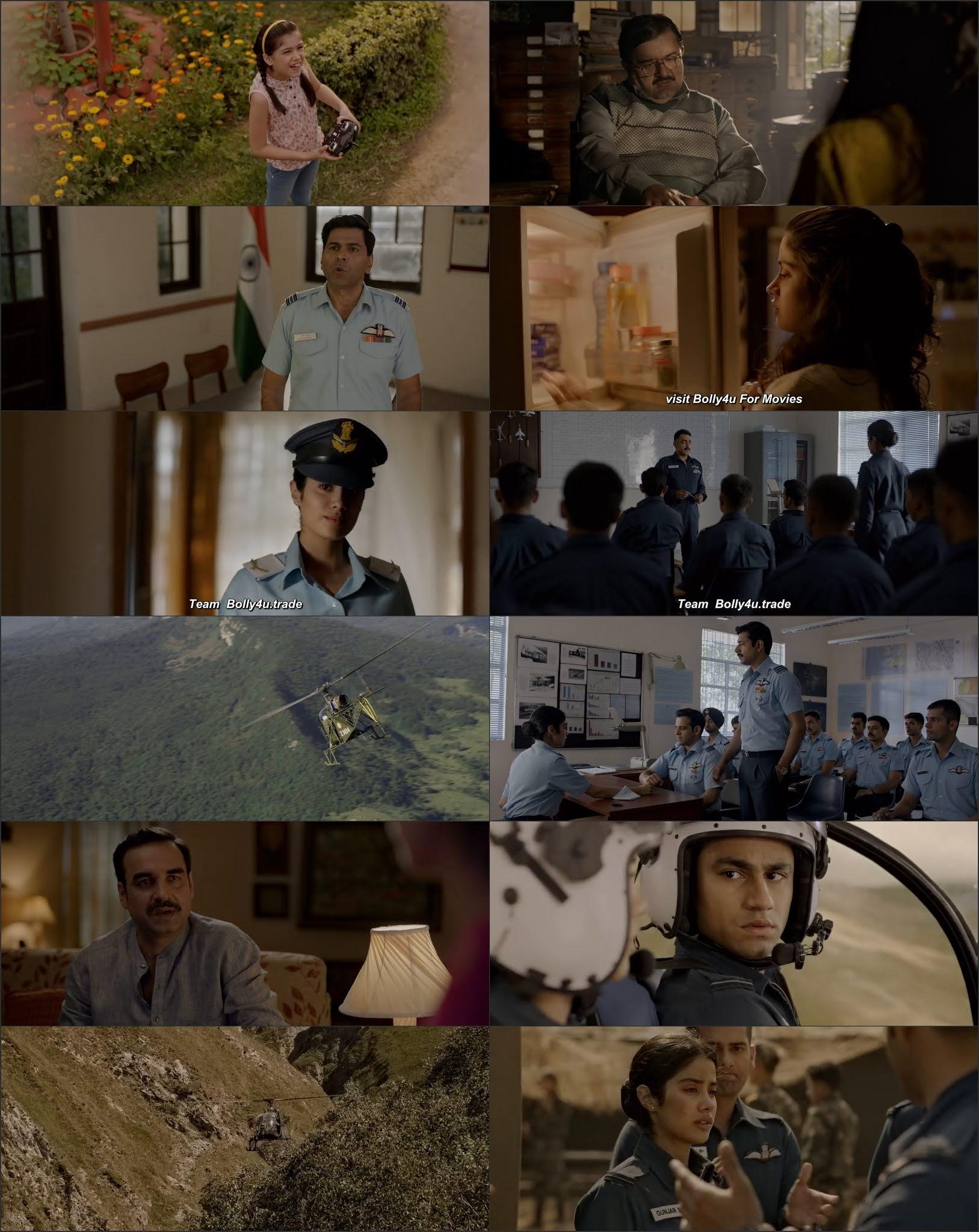 Gunjan Saxena The Kargil Girl 2020 WEB-DL 300Mb Hindi Movie Download 480p