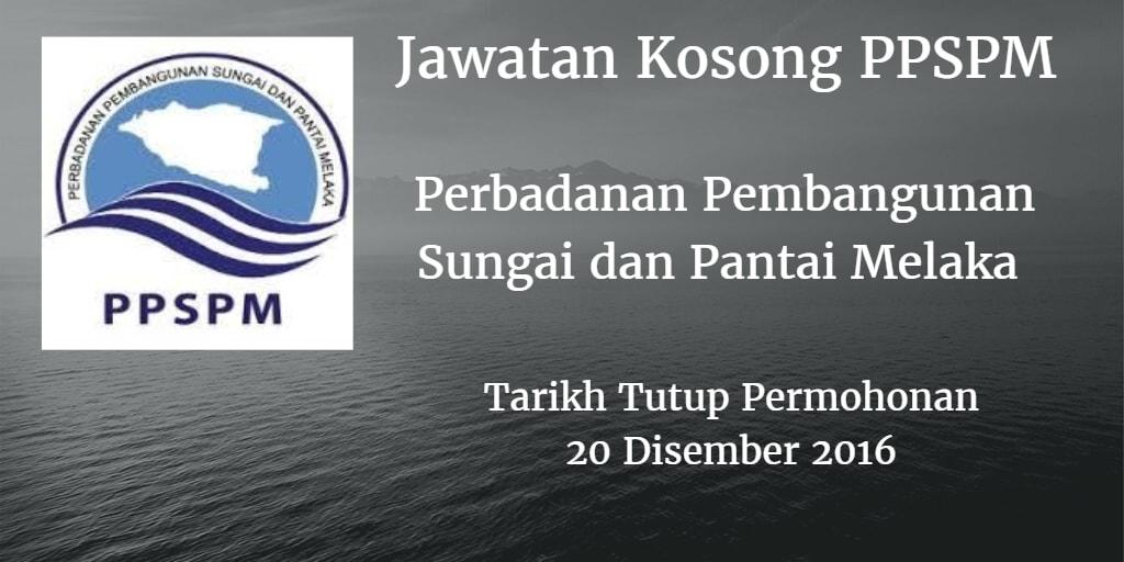 Jawatan Kosong Perbadanan Pembangunan Sungai dan Pantai Melaka 20 Disember 2016