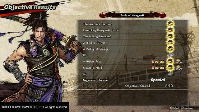 Oda Nobunaga Objetivos cumplidos Samurai Warrior 5 Nitendo Switch
