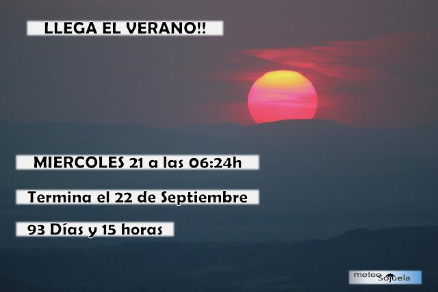 Tu tiempo en Logroño y La Rioja. Verano 2017. Solsticio de verano. Predicciones estacionales.