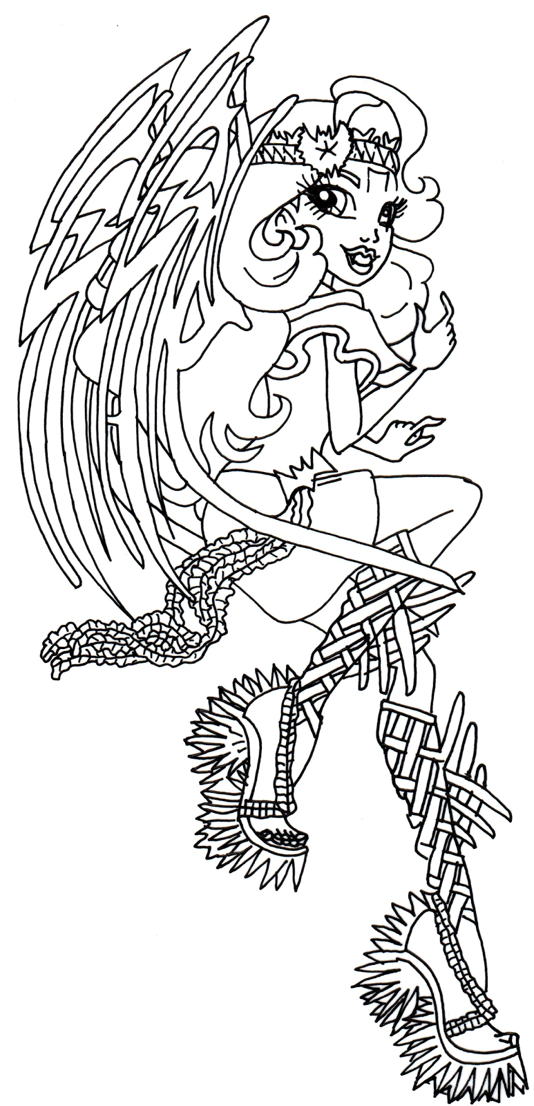 Free Printable Monster High Coloring Pages: Batsy Claro ...