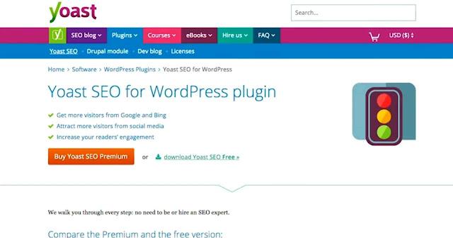 Yoast SEO-Free blogging tool for traffic bloggingradar