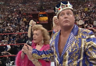 WWE / WWF Royal Rumble 2000 - The King is stunned at Mae Young wanting to get naked