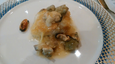 Lomo de bacalao con ajos tiernos y alcachofas