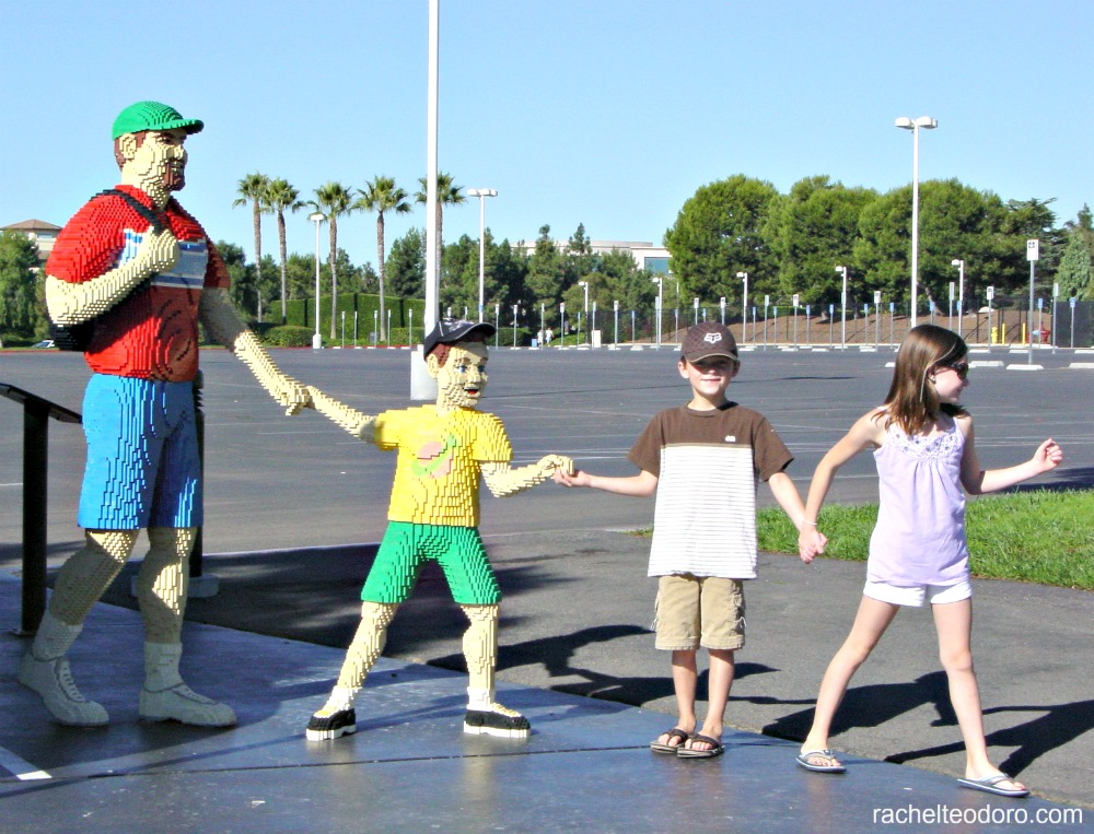 kids lined up at Legoland in California