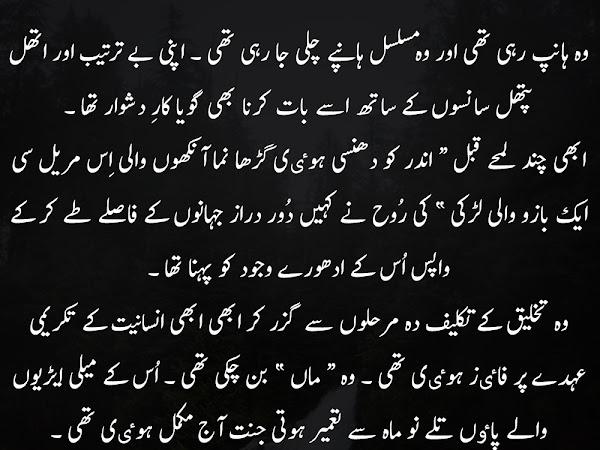 Urdu Novel Say Iqtibas - Wo Hanp Rahi Thi