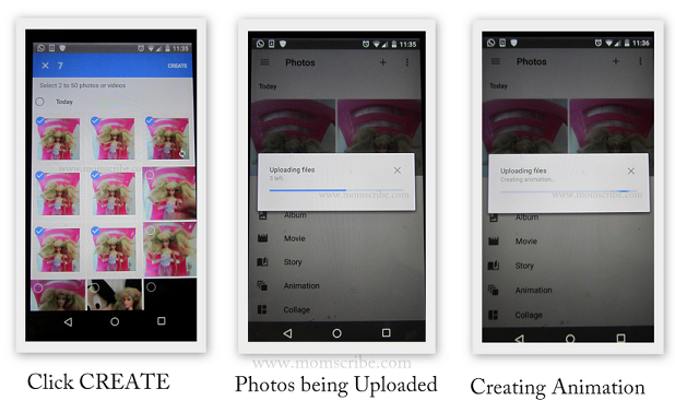 google photos animation