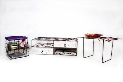 Muebles de hierro oxidado  con un toque de genialidad y sencillez.
