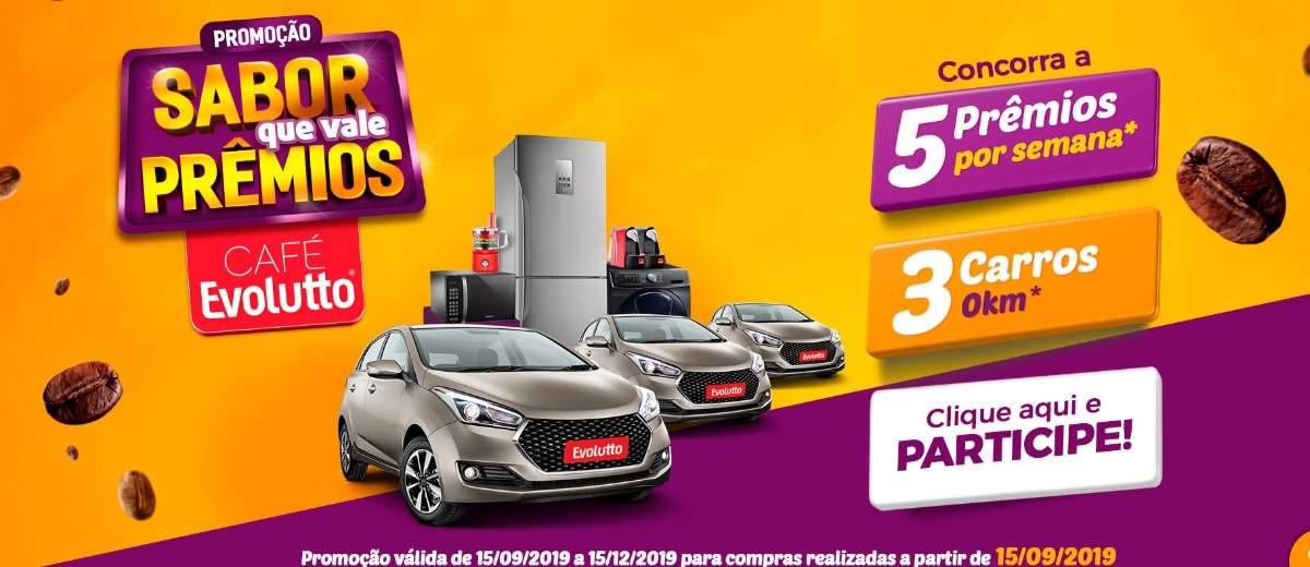 Café Evolutto Sabor Que Vale Prêmios 3 Automóveis 0KM