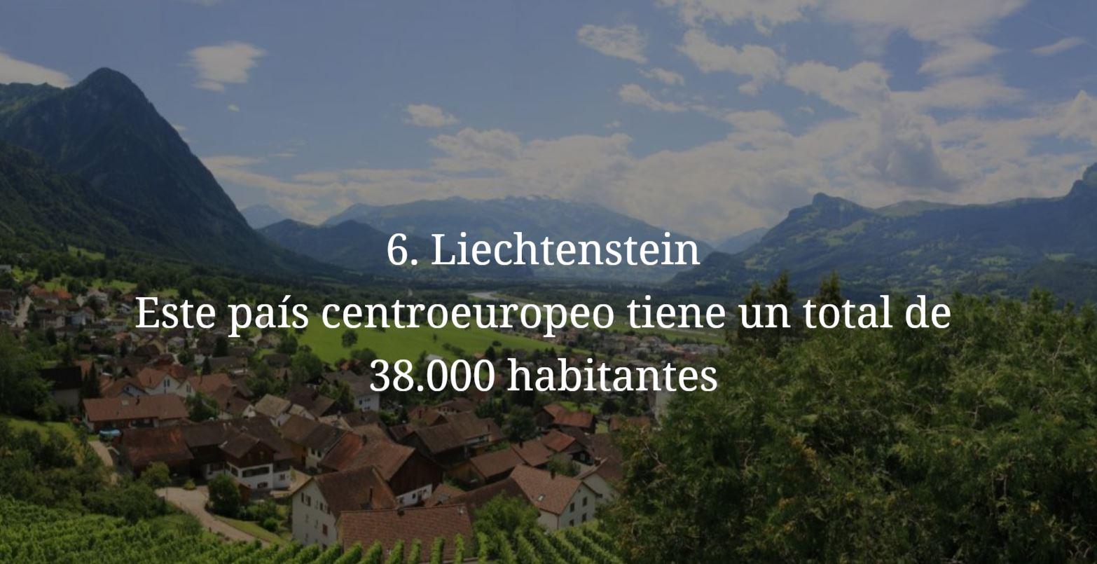 Liechtenstein, paises mas pequeños y menos habitados del mundo