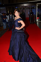 Payal Ghosh aka Harika in Dark Blue Deep Neck Sleeveless Gown at 64th Jio Filmfare Awards South 2017 ~  Exclusive 035.JPG