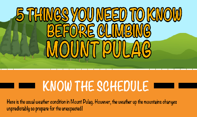 5 things you need to know before climbing Mount Pulag #infographic