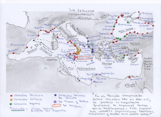 La segunda colonización griega. El mundo griego.