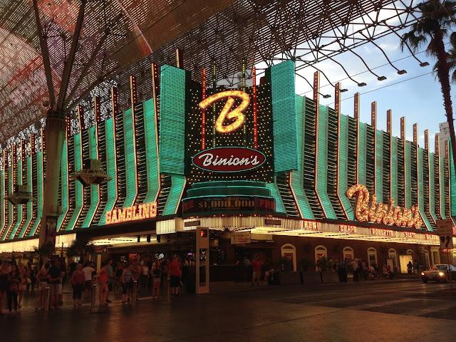 Binions Casino Neon Lights Las Vegas