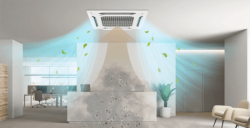 """LG DUAL Vane Cassette helps deliver clean air to your home in the """"New Normal"""""""