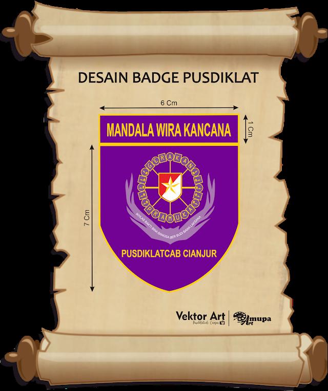 Desain Badge Pusdiklatcab Cianjur