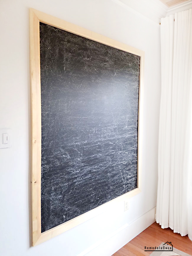 How to build and install a chalkboard