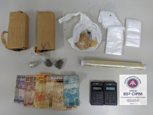 LEM: ROCAM 85ª prende indivíduo com droga no Florais Léa