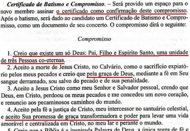 O EFEITO NOCEBO DO ADVENTISMO VOTO BATISMAL X CERTIFICADO DE BATISMO