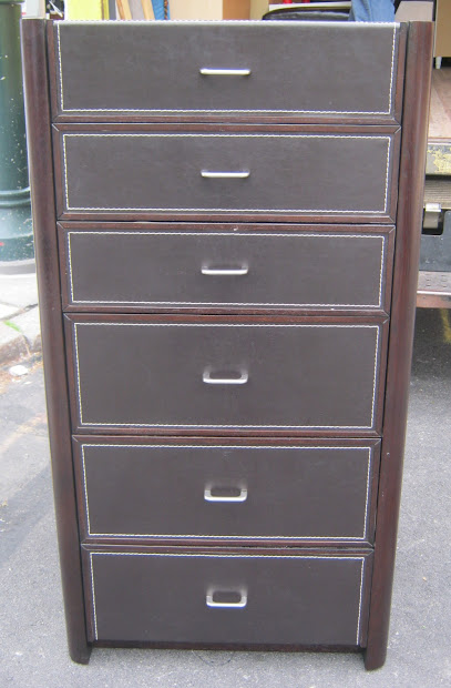 Uhuru Furniture & Collectibles Espresso Front Leather