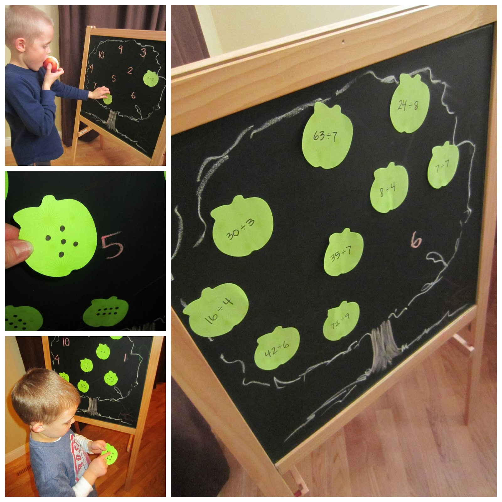 Relentlessly Fun Deceptively Educational Apple Tree Matching Letters Numbers Division