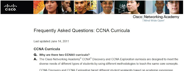 Frequently Asked Questions: CCNA Curricula