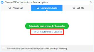 Zoom Test Audio