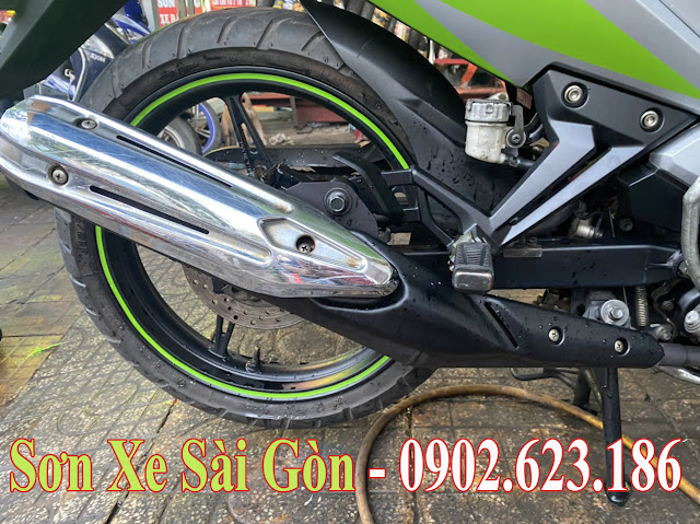 Mẫu sơn xe máy Exciter 135 phối màu cực đẹp